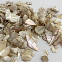 Tumbled Golden Mother of Pearl